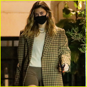 Hailey Bieber Heads Home After Late-Night Hair Salon Appointment