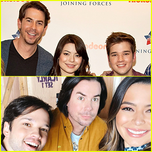 Miranda Cosgrove Shares First Photo With Jerry Trainor & Nathan Kress For 'iCarly' Reboot