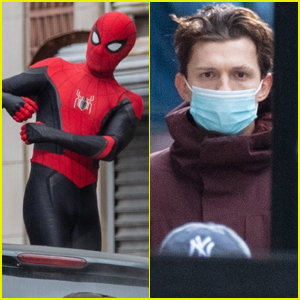 Tom Holland Gets Into Character Filming 'Spider-Man 3' - See the Set Pics!