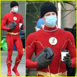 Grant Gustin Suits Up As The Flash After Pregnancy Announcement!