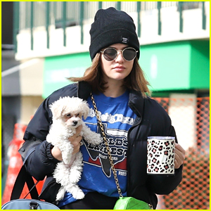 Lucy Hale Brings New Puppy Ethel To Pilates With Bailee Madison