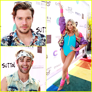 Dominic Sherwood, Jack Griffo & More Get In The 80s Spirit For Cassie Scerbo's Birthday!