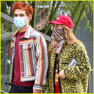 KJ Apa & Clara Berry Hold Hands While Out In Vancouver