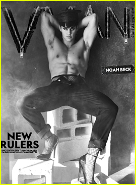 Noah Beck Wears Fishnets & Heels For 'VMAN' Magazine's New Rulers Digital Issue