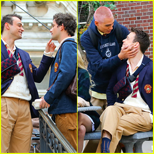 Thomas Doherty Shares Cute Moments With Co-Stars While Filming 'Gossip Girl'