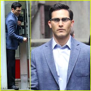 Tyler Hoechlin Films An Iconic Phone Booth Scene For 'Superman & Lois'