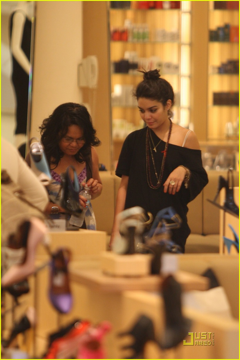 vanessa hudgens shoe shopping barneys 10