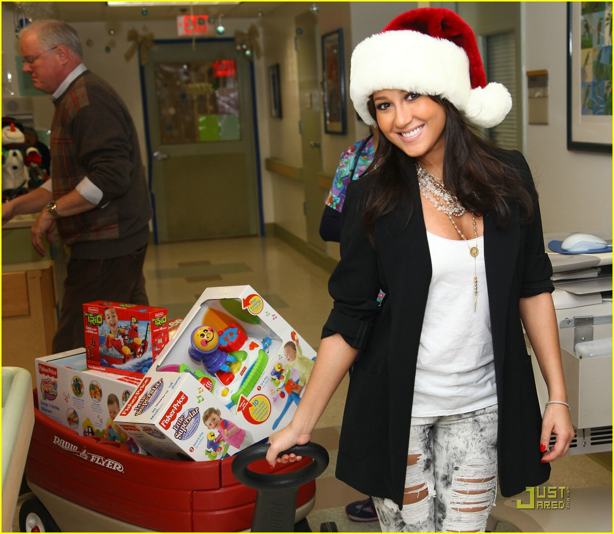 adrienne bailon christmas children 01