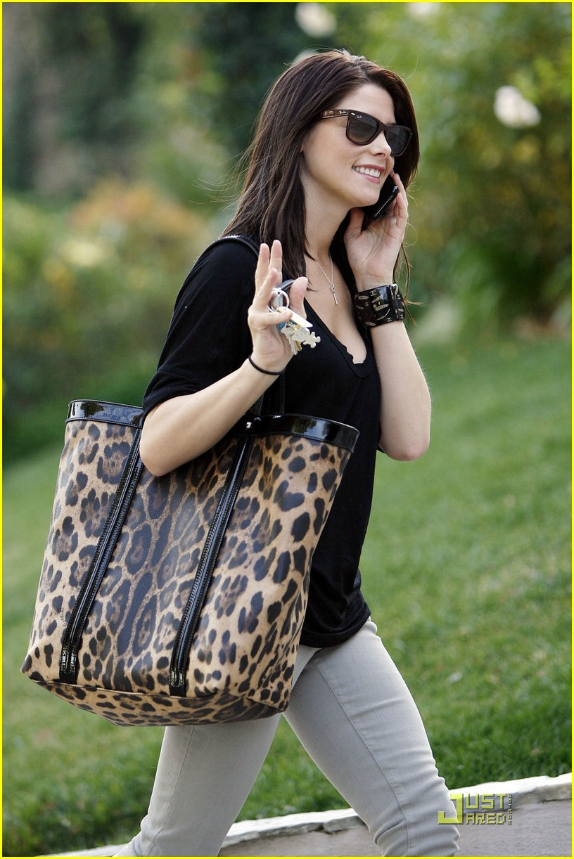 ashley greene leopard bag 09