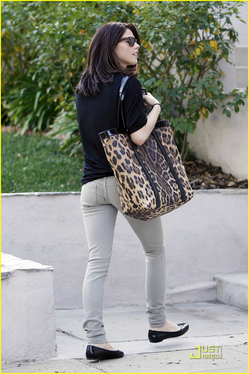 ashley greene leopard bag 11
