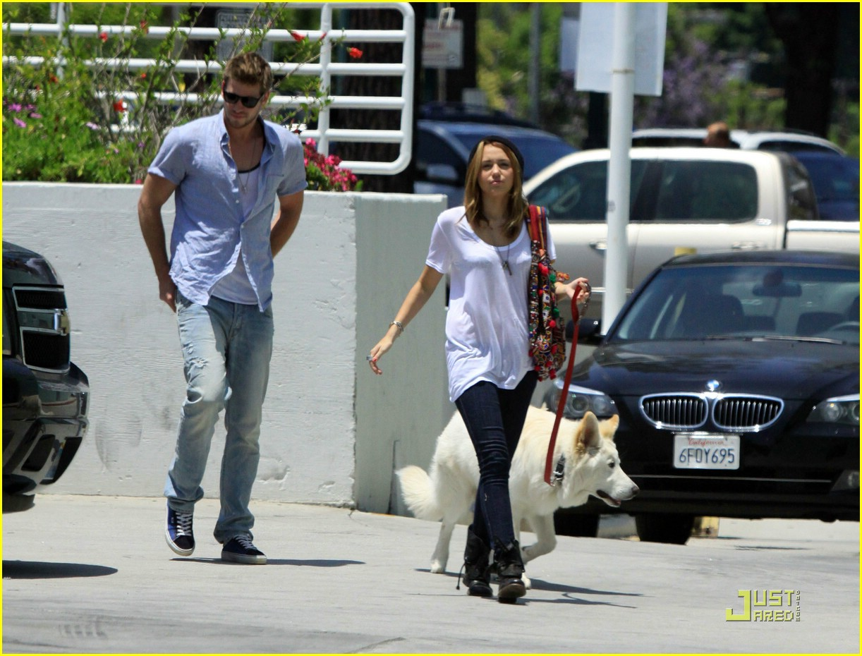 miley cyrus liam hemsworth petco 01
