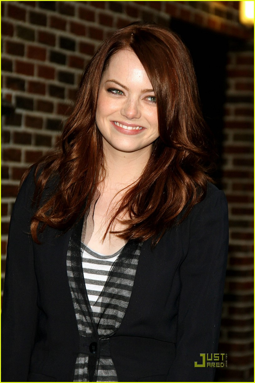 emma stone david letterman 16