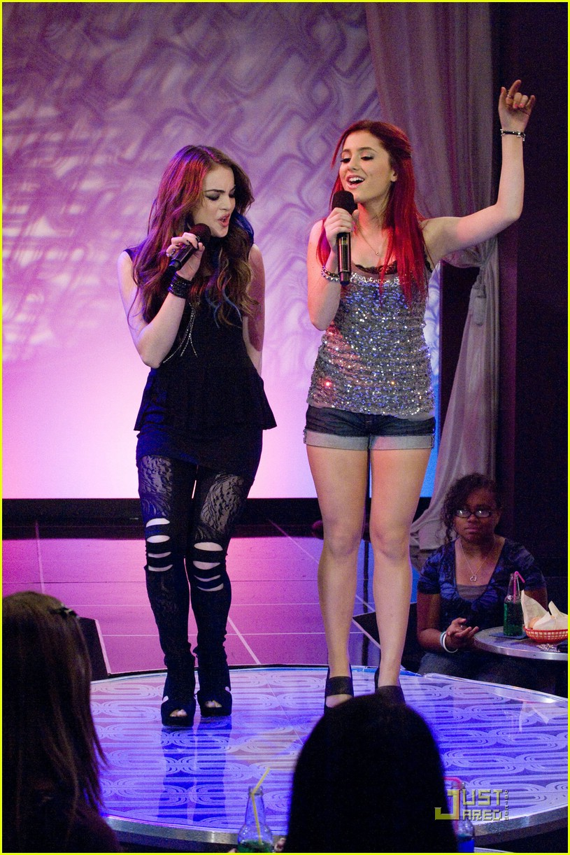 ariana grande elizabeth gillies give up 02