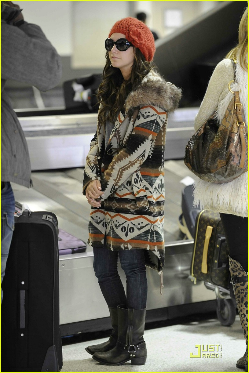 ashley tisdale fur hoodie 08