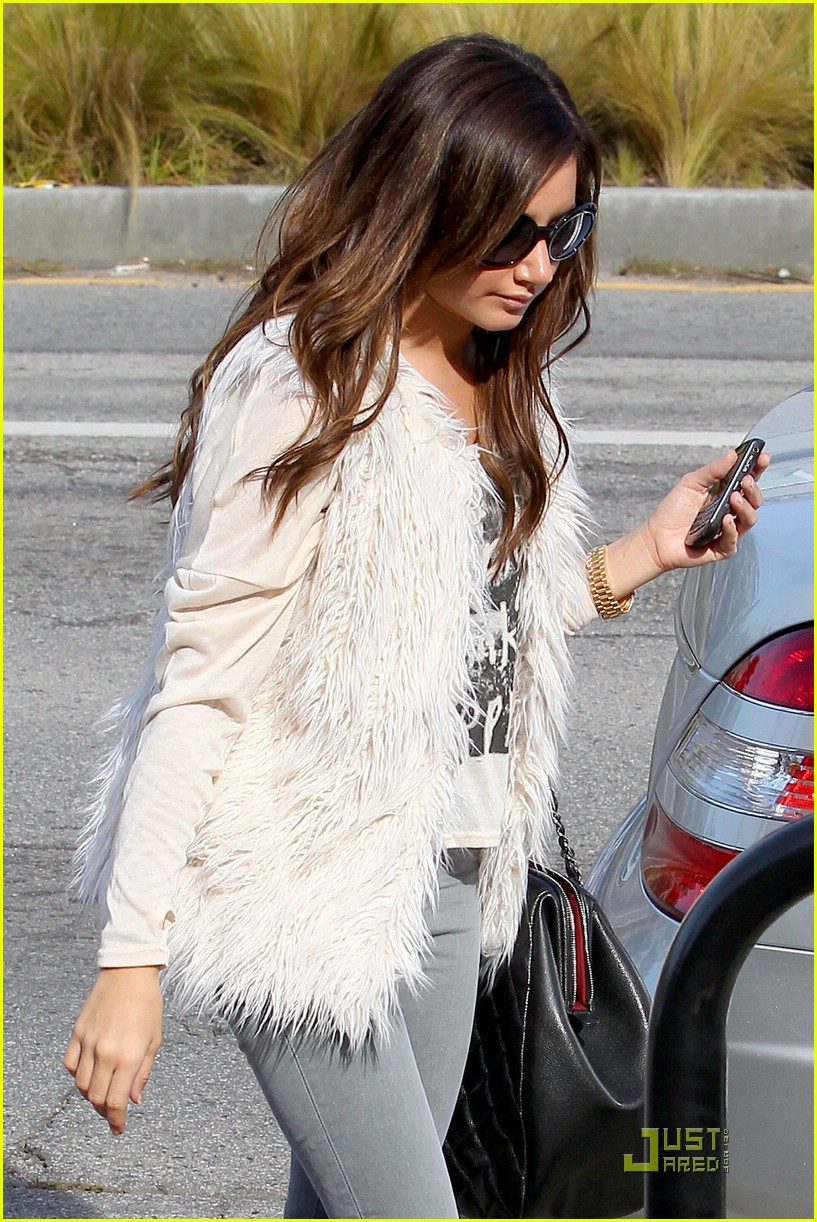 ashley tisdale fuzzy vest 12