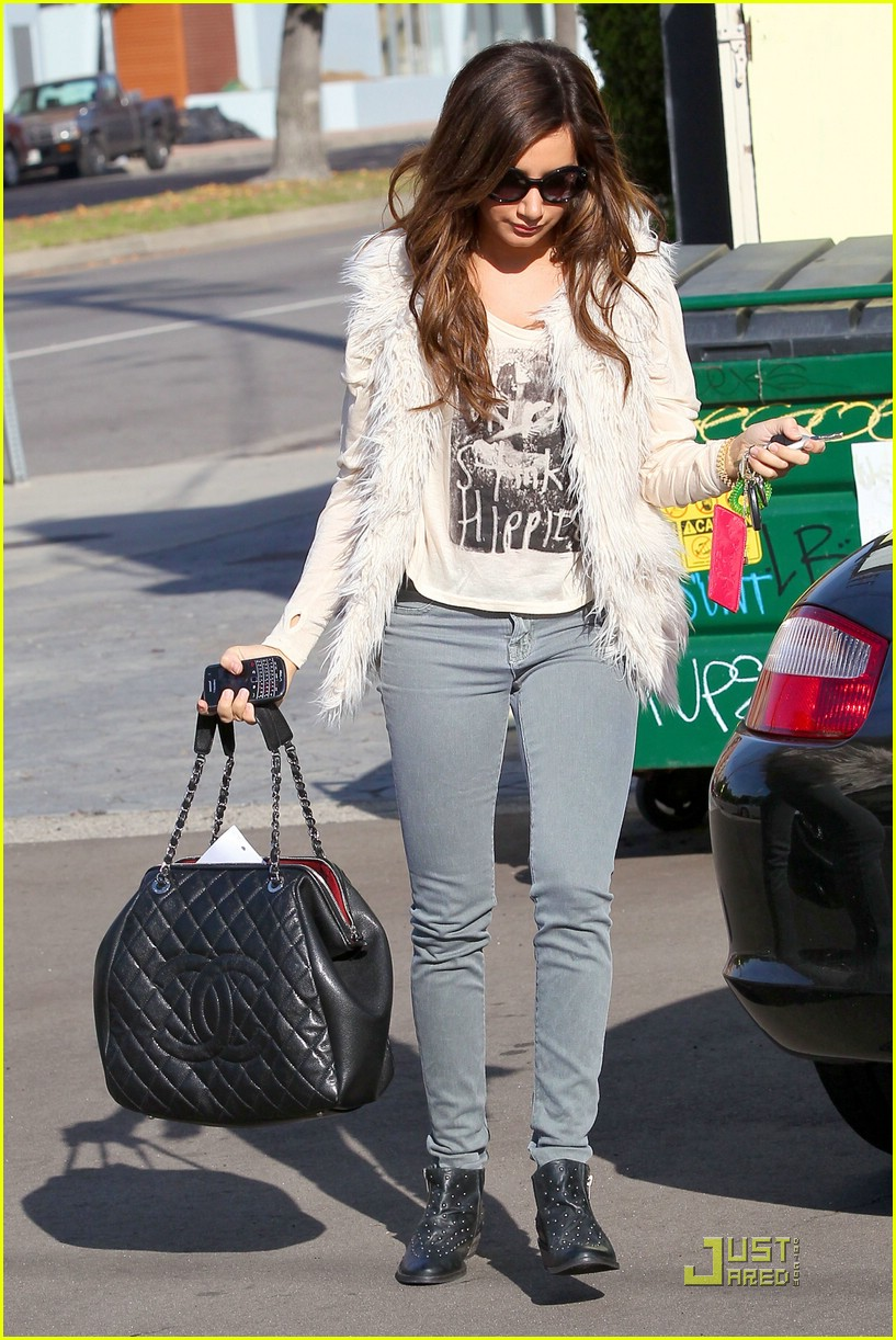 ashley tisdale fuzzy vest 20
