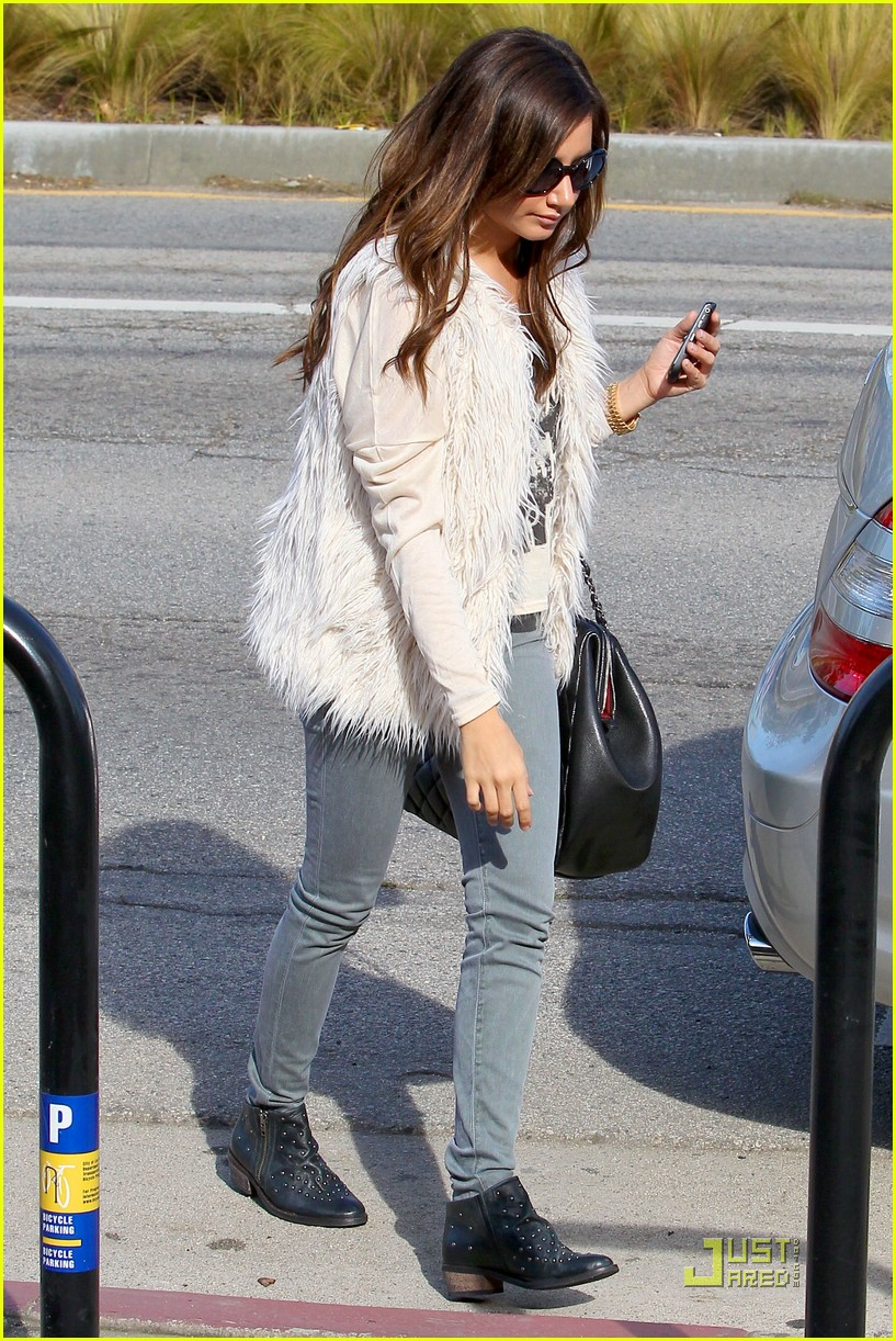 ashley tisdale fuzzy vest 25