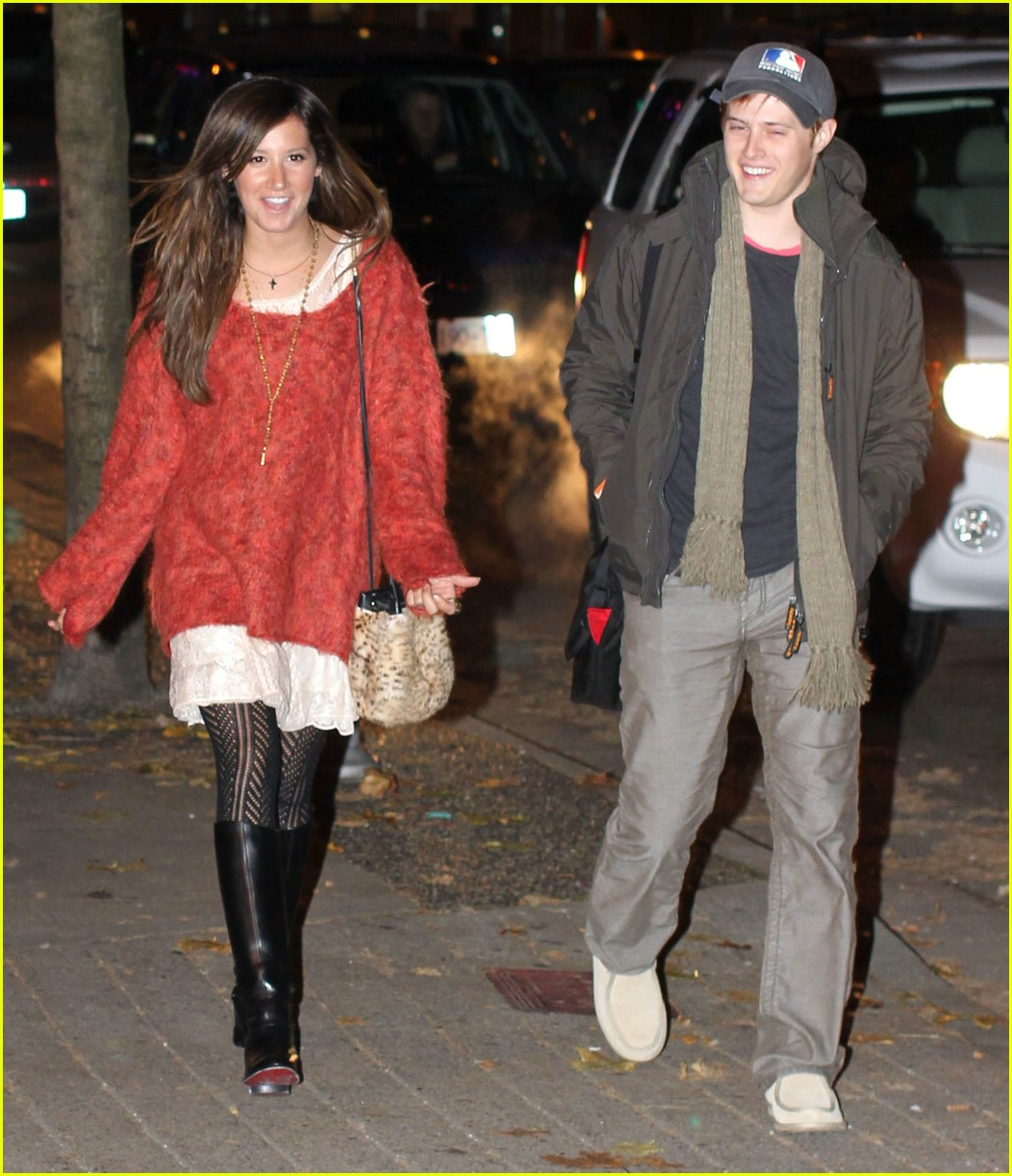 ashley tisdale lucas grabeel dinner 01
