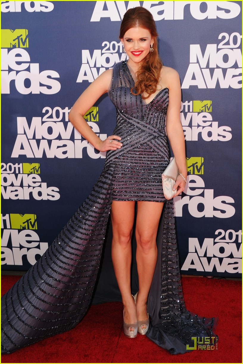 crystal reed holland roden mtv awards 09