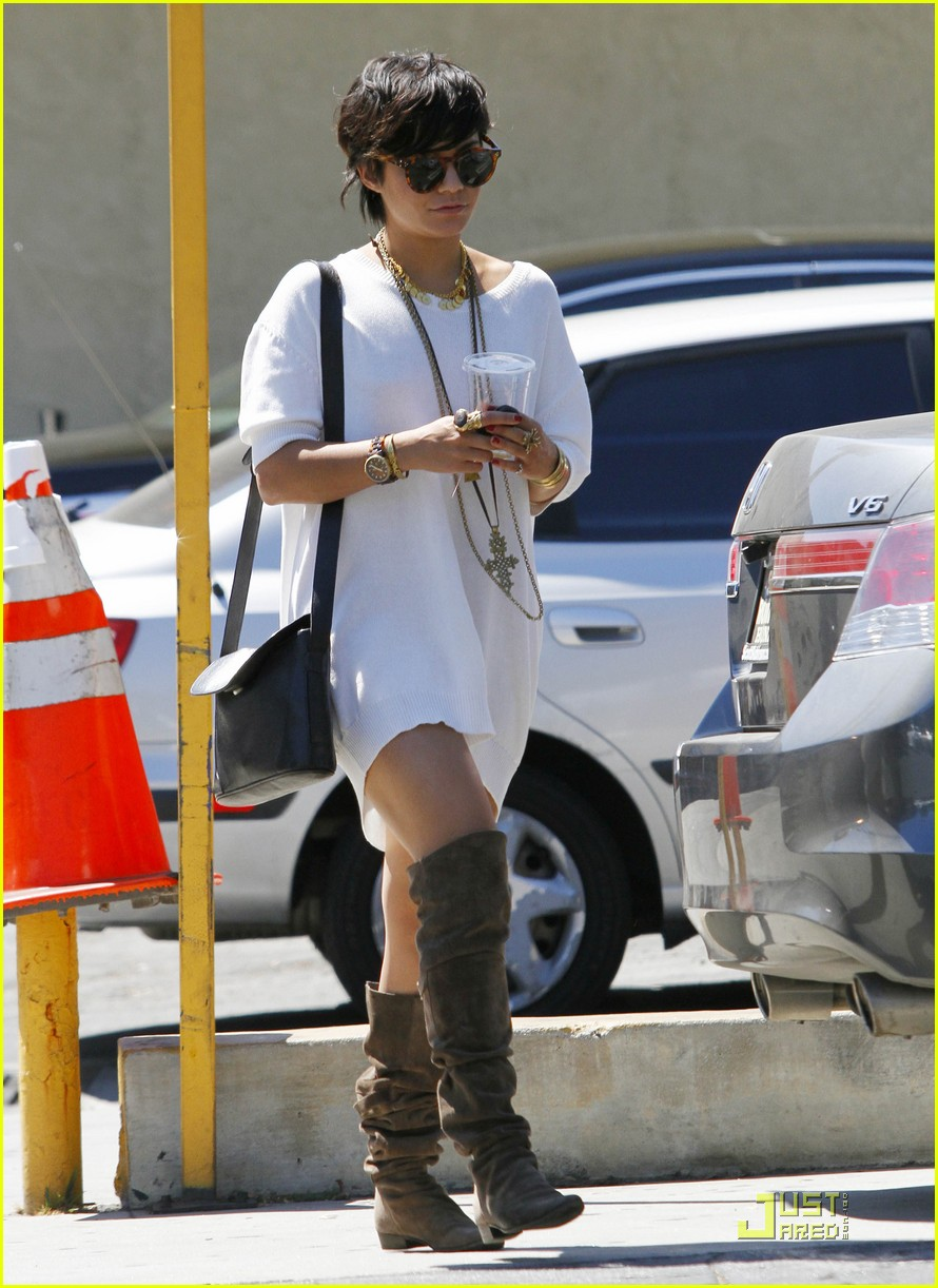 vanessa hudgens shirt dress 05