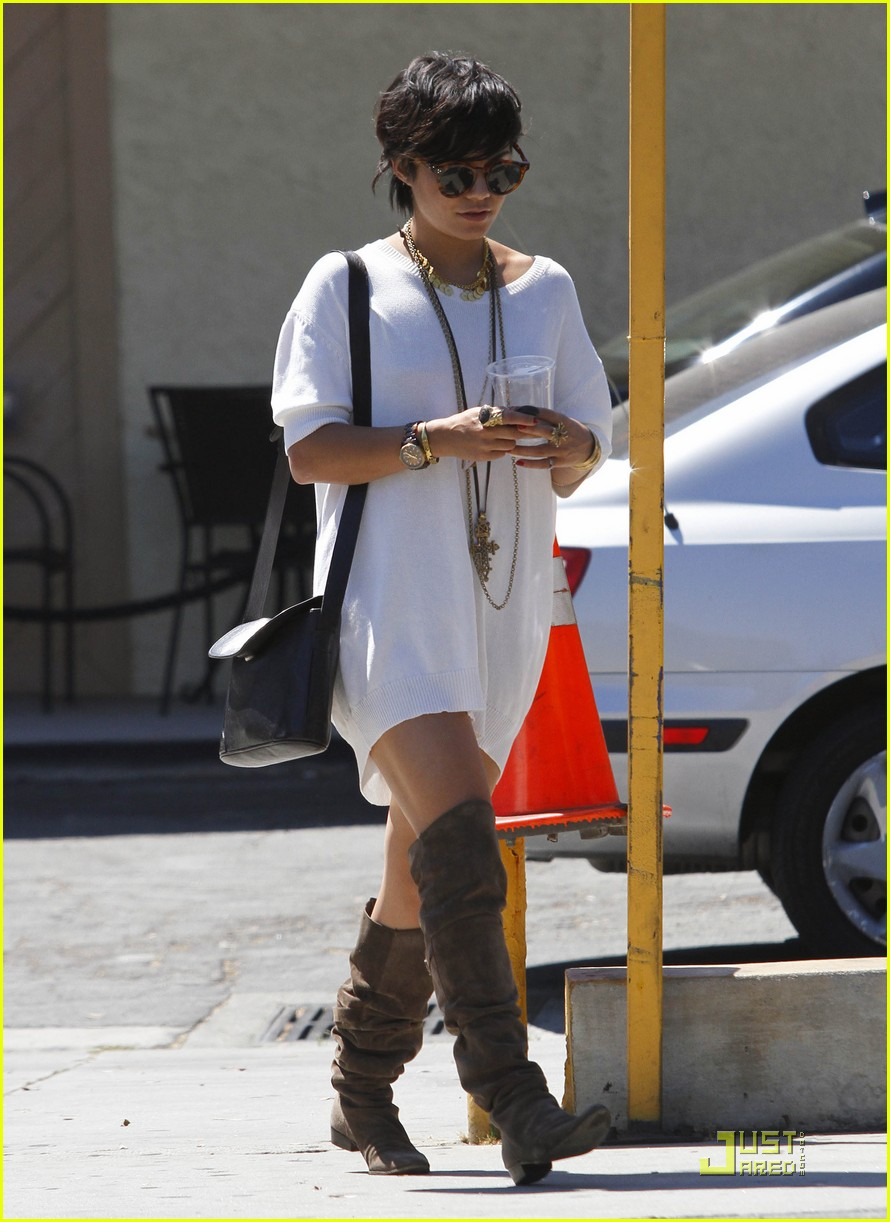 vanessa hudgens shirt dress 08