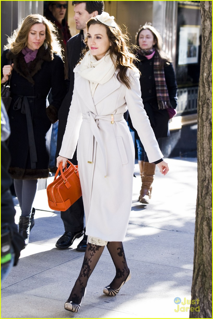 leighton meester wool coat 03