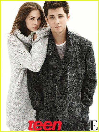 logan lerman coats kiss 02