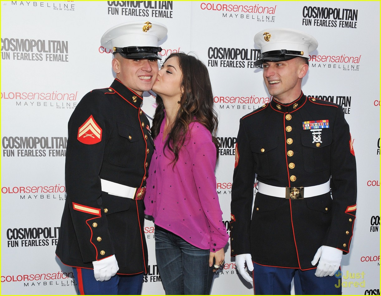 lucy hale cosmo kisses troops 02