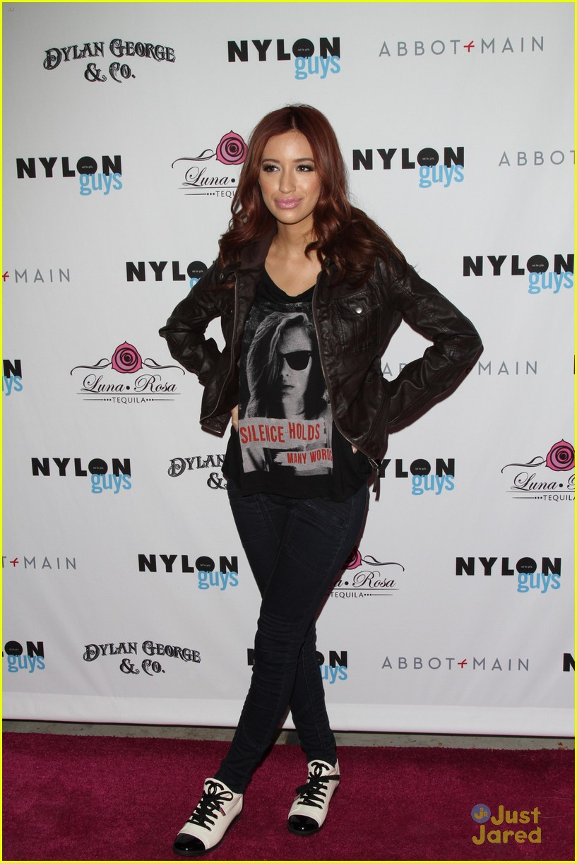 christian serratos nylon guys party 02