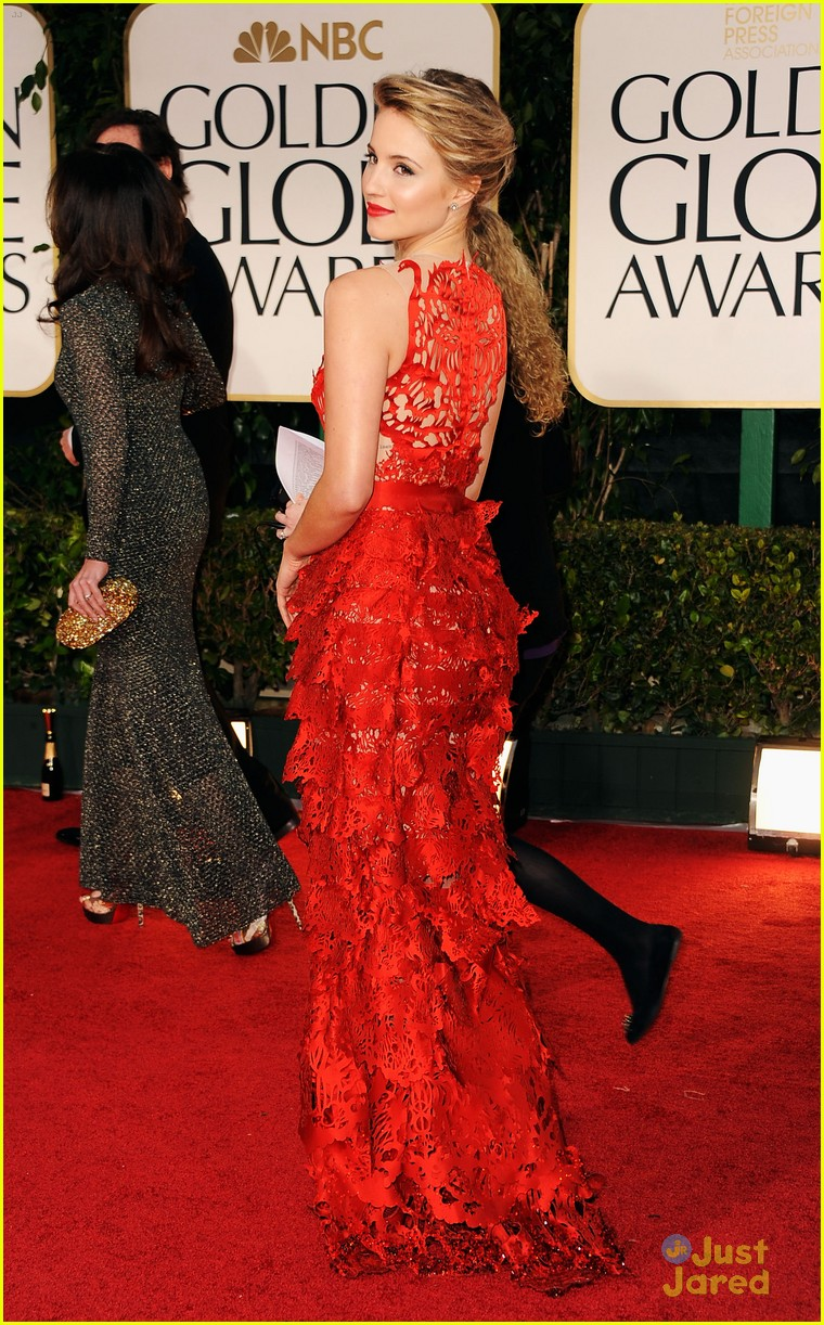 dianna agron golden globes 03