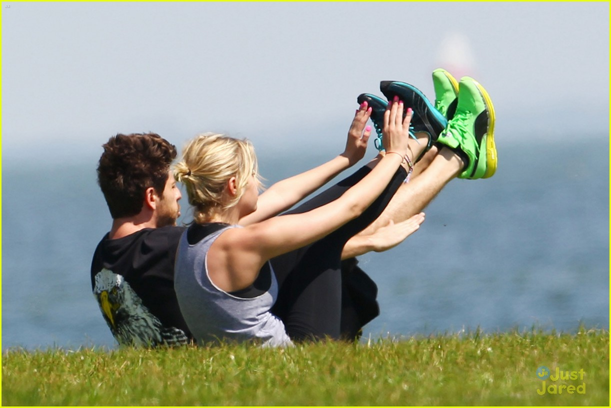 ashley benson ryan good workout 02
