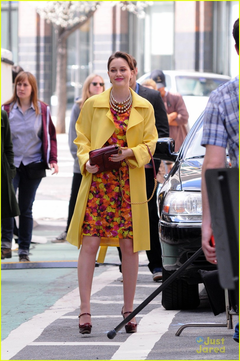 leighton meester floral dress gg 09
