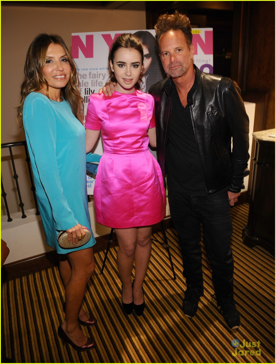 lily collins nylon party 04
