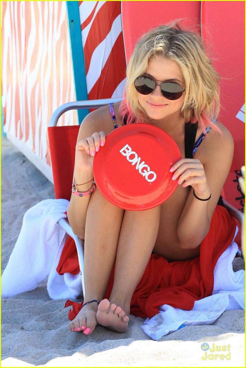 lucy hale ashley benson bongo beach 07