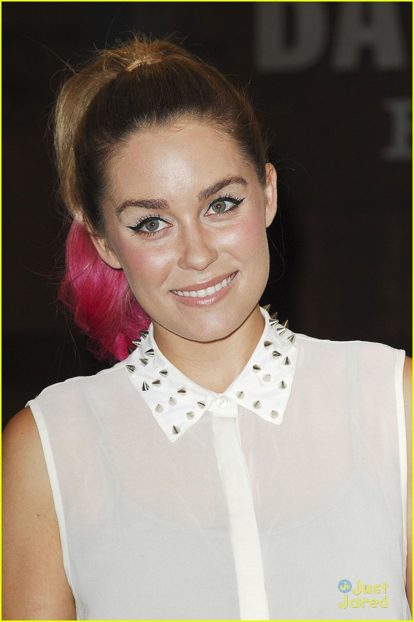 lauren conrad hot pink hair tips 05