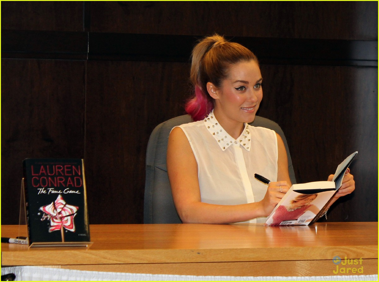 lauren conrad hot pink hair tips 09