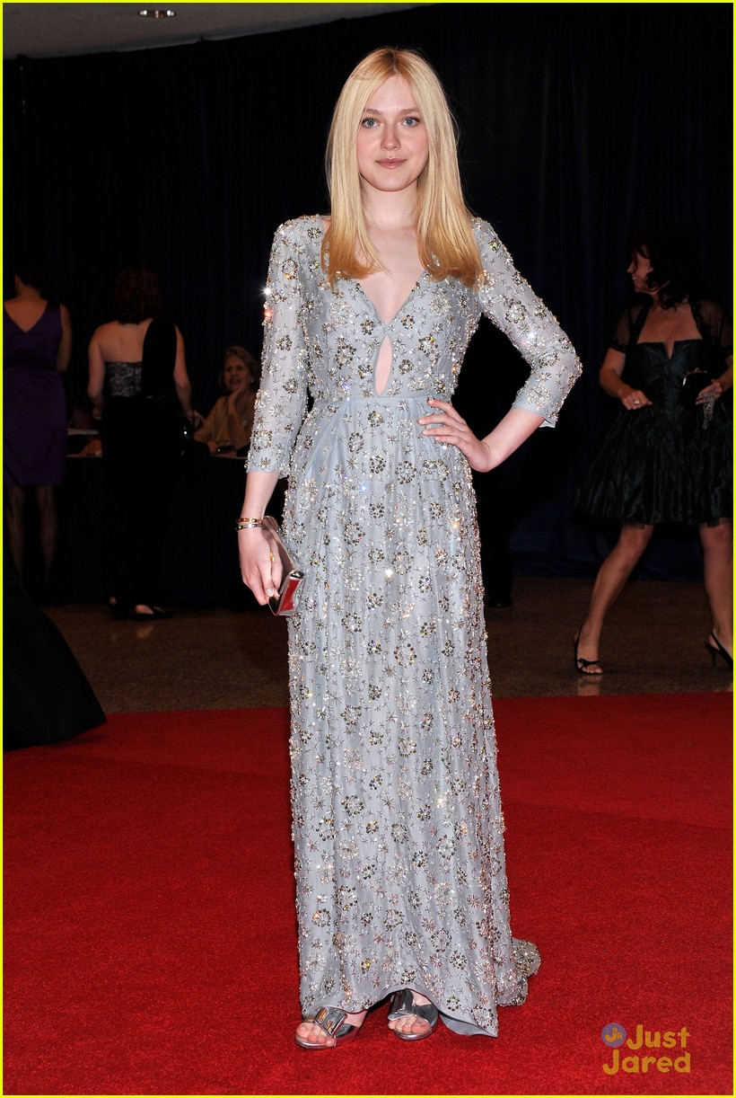 dakota fanning white house dinner 01