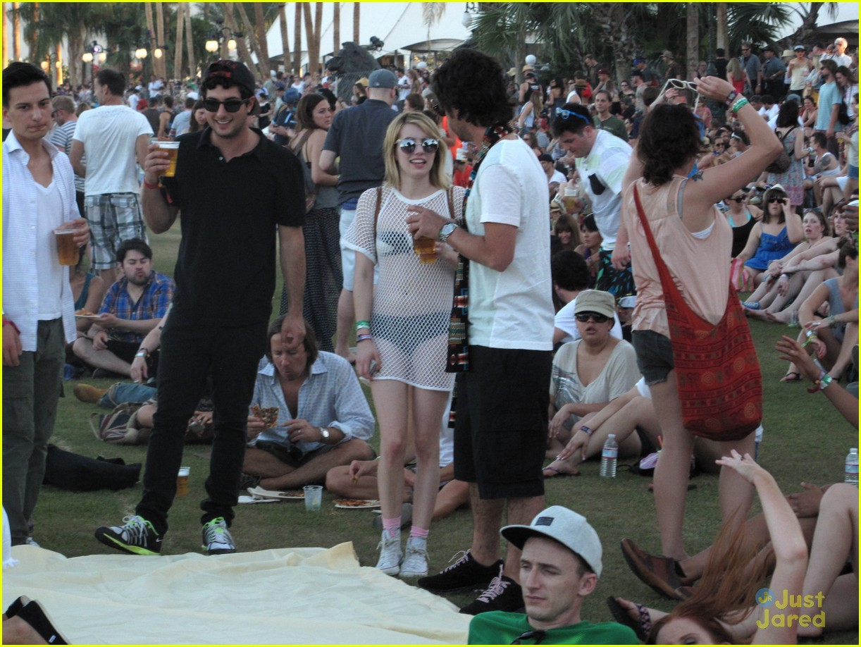 emma roberts mesh dress coachella 13