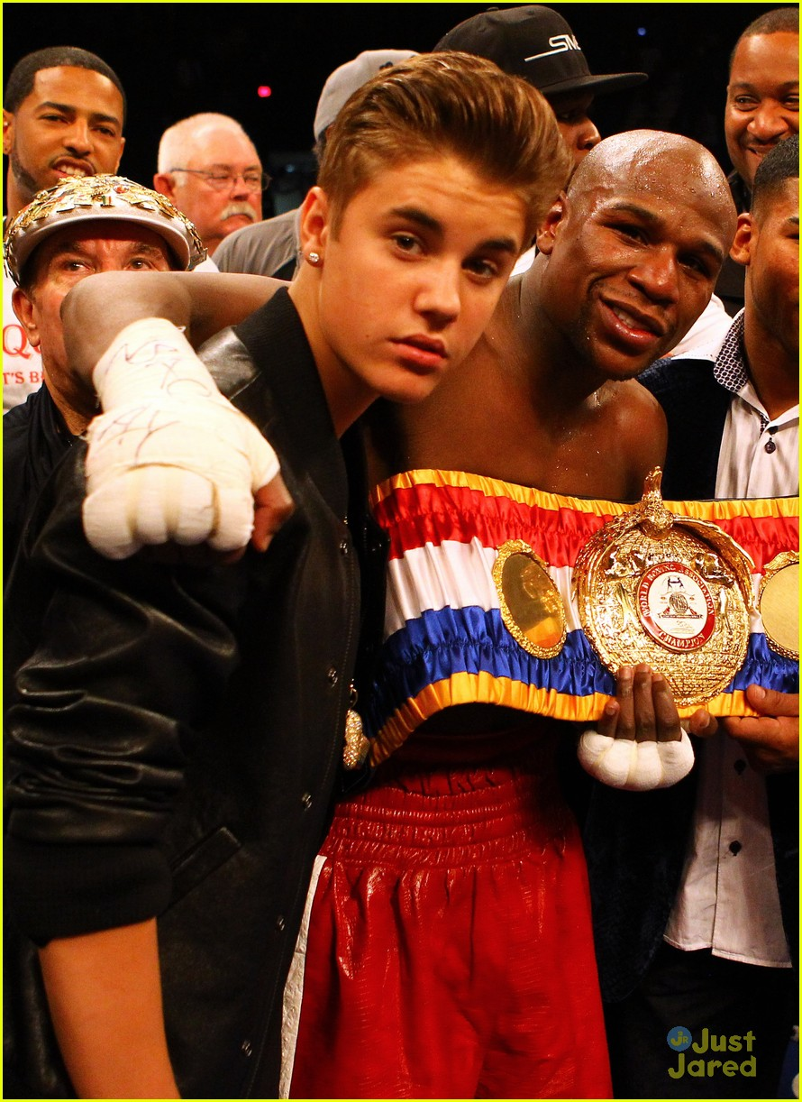 justin bieber floyd mayweather fight 04