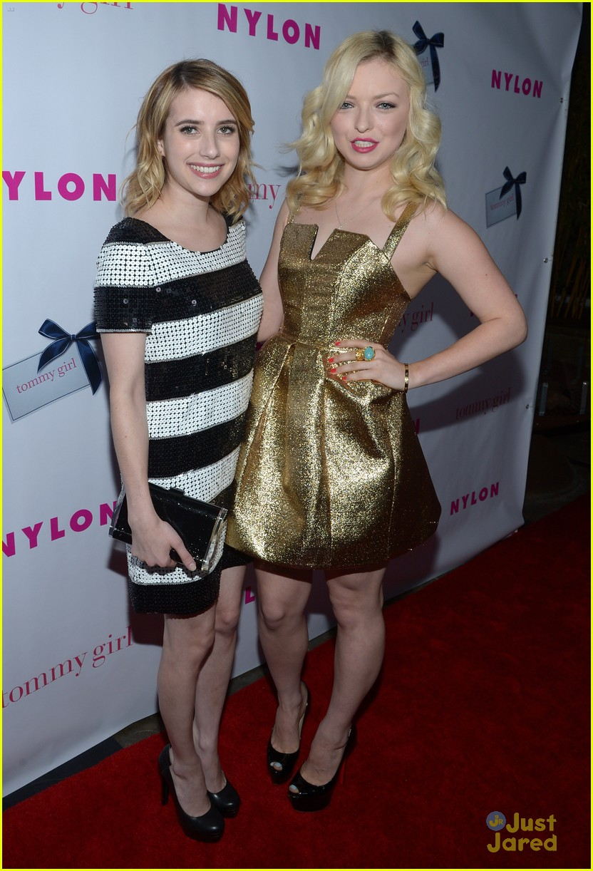 emma roberts nylon party 06