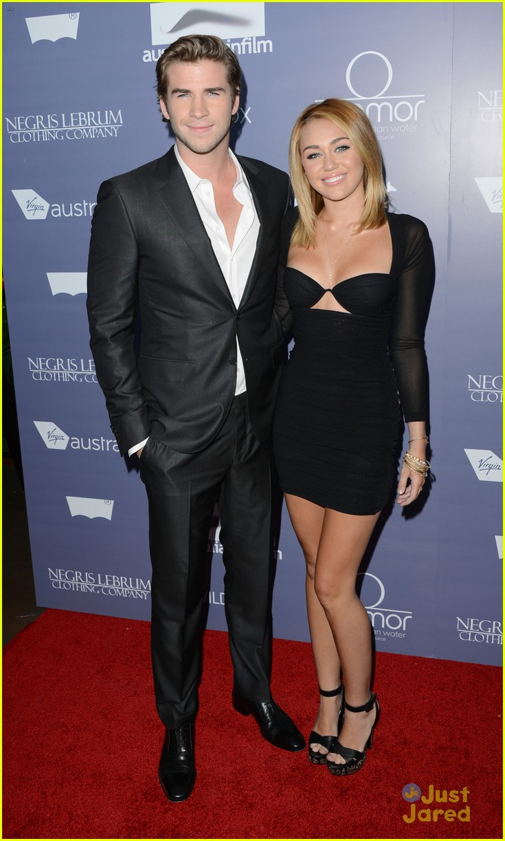 miley cyrus liam hemsworth australians in film awards 01