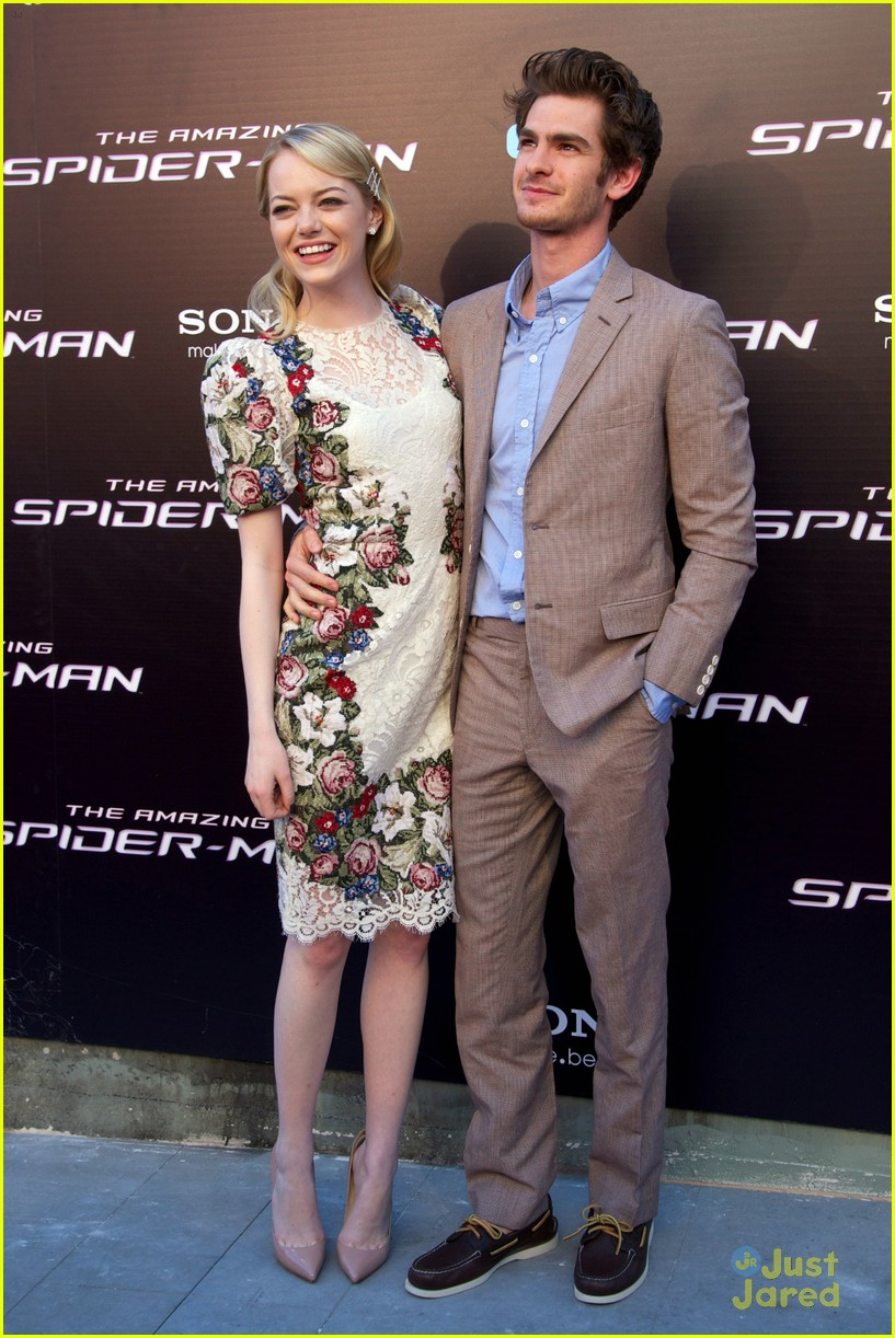 emma stone andrew garfield madrid 16