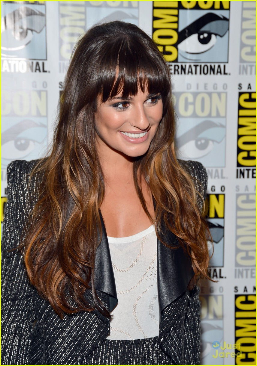 lea michele jenna ushkowitz glee sdcc 11