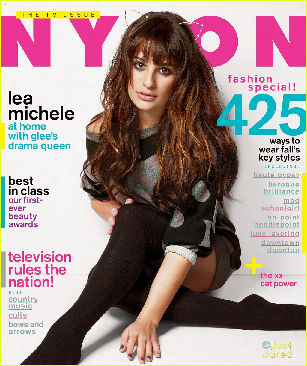 lea michele covers nylon magazine september 2012 01