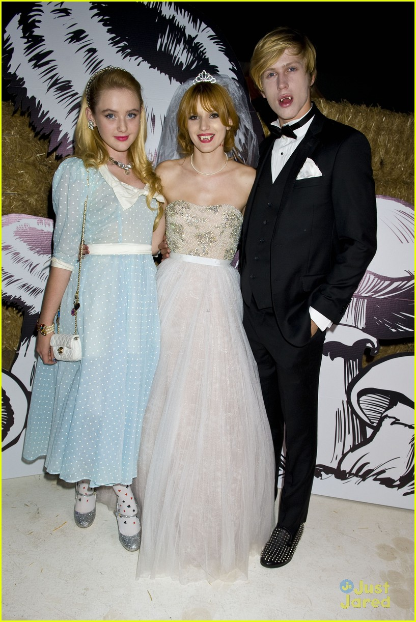 debby ryan bella thorne jj halloween party 03