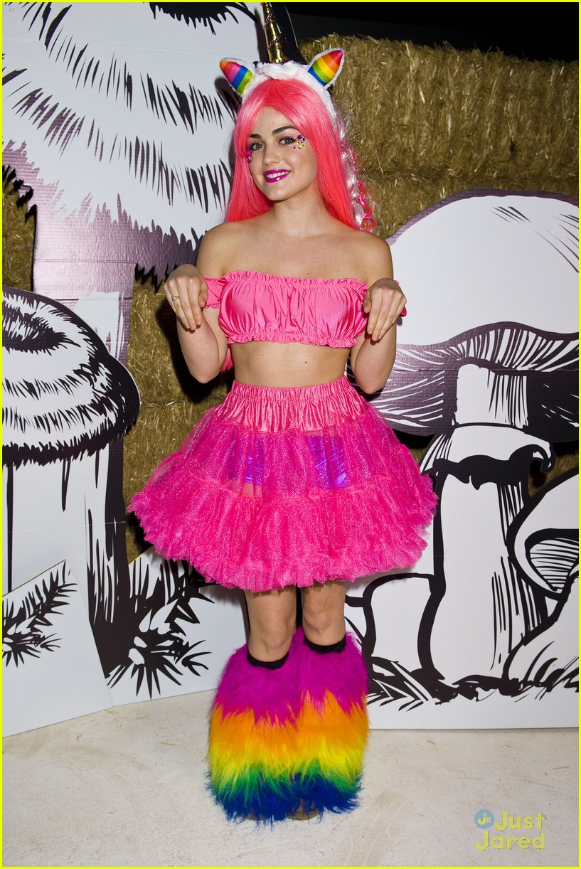 lucy hale jj halloween party 01