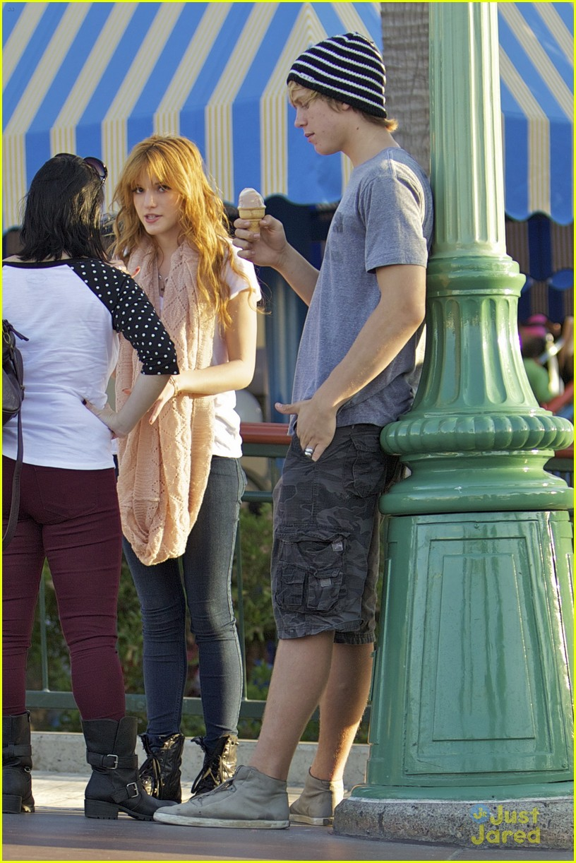 Bella Thorne And Boyfriend Tristan Klier Roam Around Disneyland With