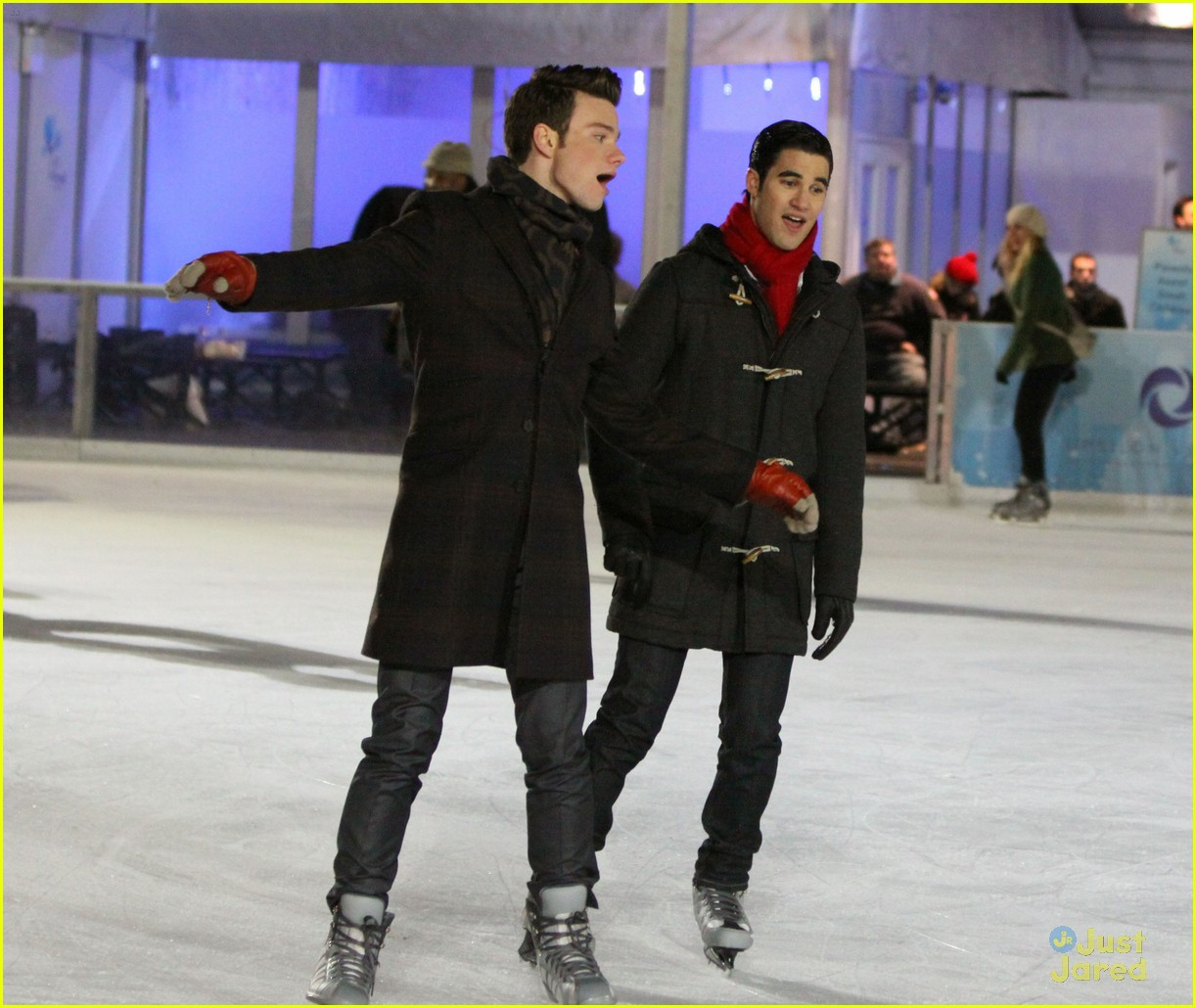 chris colfer darren criss ice skating 03