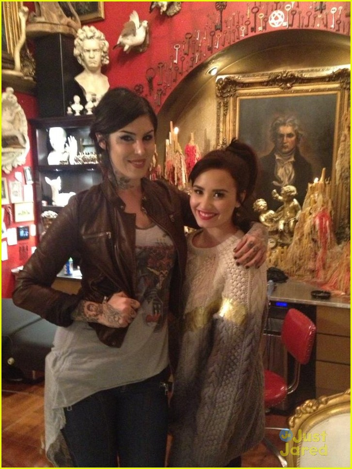 demi lovato new arm tattoo via kat von d 02