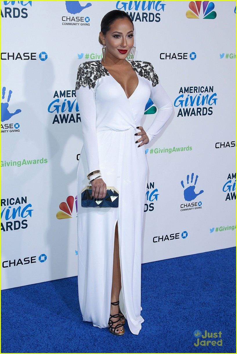adrienne bailon giving awards xfactor viewing party 10